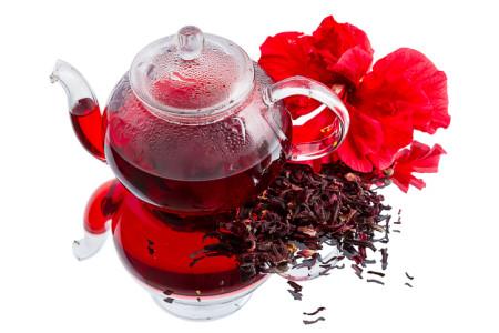 Красный чай каркаде (из лепестков гибискуса)