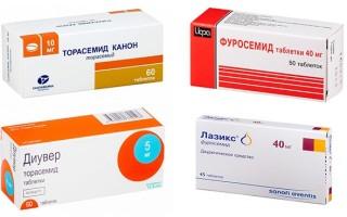 Петлевые диуретики препараты список