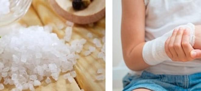 Как делать солевые повязки на область суставов, целебные свойства